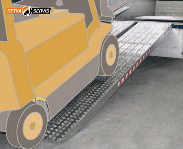 Hliníková nájazdová rampa M120S-AL   DETVA servis s.r.o.