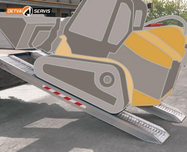 Hliníková nájazdová rampa M170-185 | DETVA servis s.r.o.