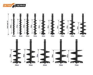 Vrtáky S5 – pre rýpadlá od 4,5 do 8 t